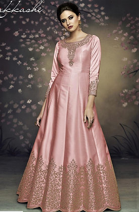 Indo-western Gown w/ Embroidery