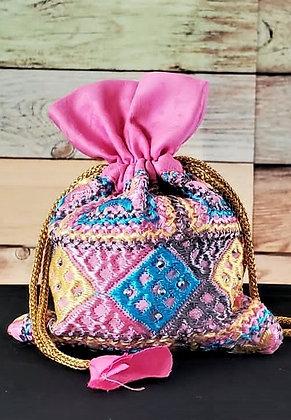 Multi-Color Embroidered Potli Bag