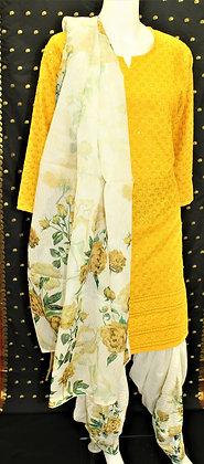 Beautiful Yellow Patiala Salwar Kameez