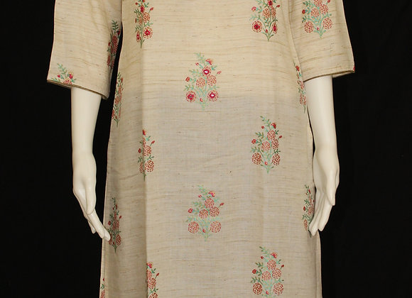 Light Cream soft cotton Kurti ( M )