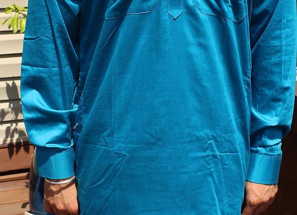 Blue Soft Cotton Pathani Suit ( M 40'' )