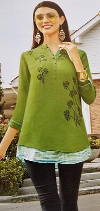 Green Soft Cotton Kurti