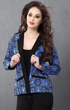 Black & Blue Cotton Fashionable Reversable Jacket