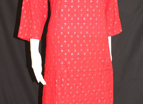 Red cotton Kurti ( XXL )