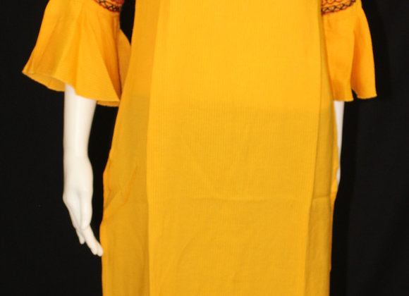 Yellow color soft cotton Kurti ( M )