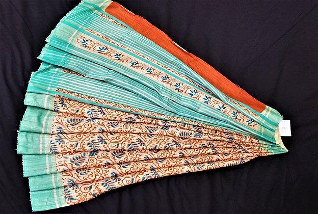 Beautiful printed Handloom Silk Saree