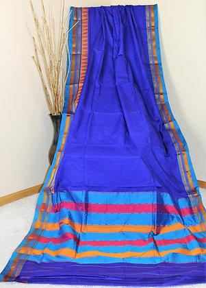 Blue Kohlapuri Ilkal Saree