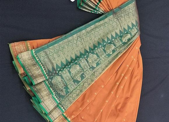 Bomkai Weave inspired Mustrard  Silk