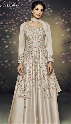 Indo-western Gown w/ Embroidery allover