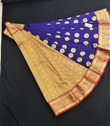 Royal Blue Kanjivaram Silk Pattu Saree