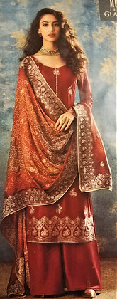 Brown Silk Salwar Kameez