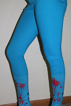 Sky Blue Lycra soft & stretchable leggings (M/L)