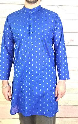 Blue Readymade Cotton Kurta