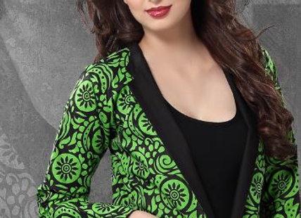 Bright Cotton Black & Green Printed Reversible