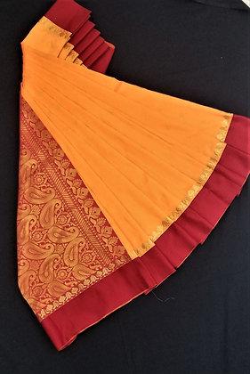 Peach Orange beautiful saree