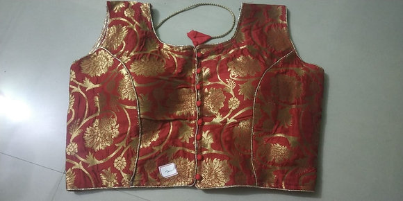 Red Fancy Blouse