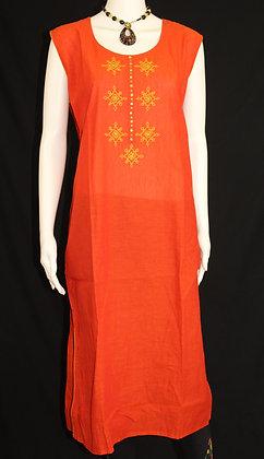 Orange cotton Kurti ( L )