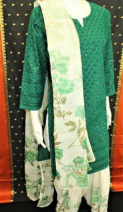 Beautiful Green Patiala Salwar Kameez