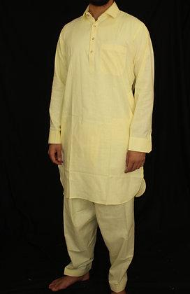 Yellow Pathani Suit ( L )
