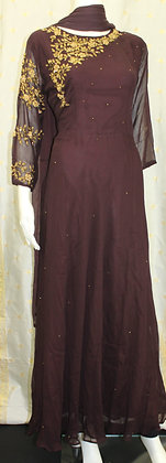 Brown Indo-Western Gown