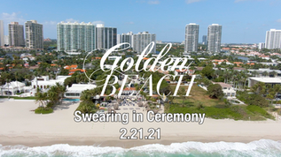 Town of Golden Beach Swearing in Ceremony