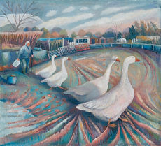 Josie and her geese 41x45cm.jpg