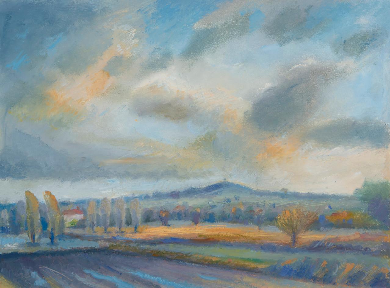 Burrow Hill, twilight