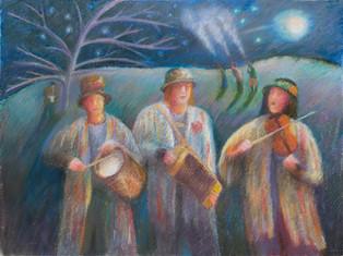 Musicians at the Wassail