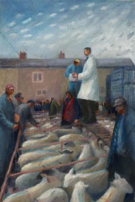 Auctioning fat lambs, Highbridge Market
