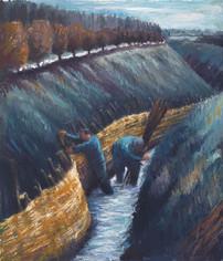 River bank spilling