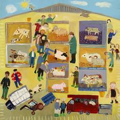 Taunton Market by primary school pupils