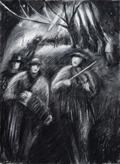 Two Musicians at the Wassail
