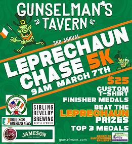 Gunselman's Leprechaun Chase 2020 flyer