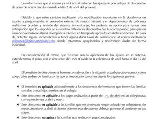 Escuelanet Descuentos Covid-19