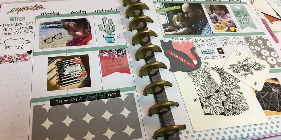 Intro to Art Journaling w/Aimée – Planner Style!