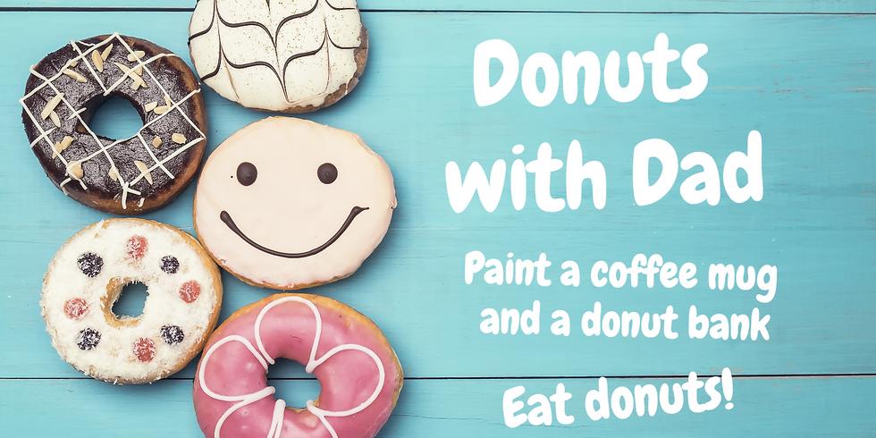 Donuts with Dad Coffee Mug and Donut Bank