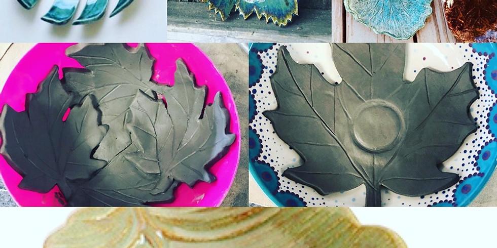 Clay Leaf votive holder or bowl