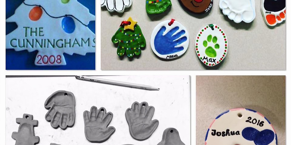 Hand or Foot Impression Ornaments Sale!