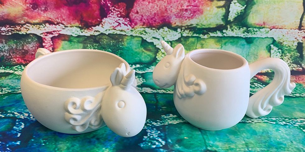 Unicorn Bowl and Cup Combo