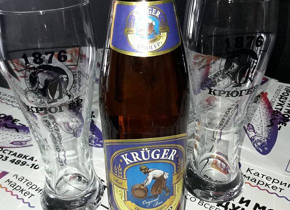 """Пиво """"Крюгер традиционное"""" светлое фильтрованное 0.5"""