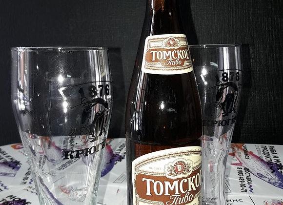 """Пиво """"Томское фирменное""""  светлое фильтрованное 0.5"""