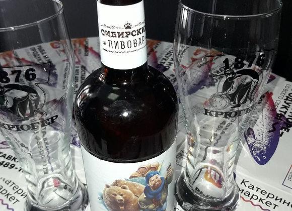 """Пиво """"Сибирский пивовар"""" светлое фильтрованное пастеризованное 0.5"""