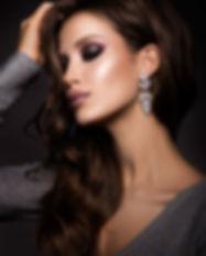 Beautiful woman with professional make u