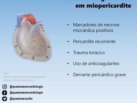 Critérios de gravidade em miopericardite