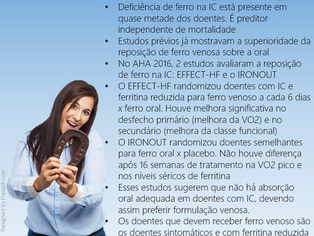 Highlights AHA 2016: Estudo EFFECT e IRONOUT - Como repor ferro na IC?