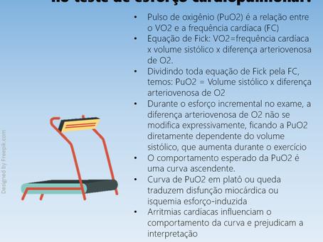 Qual a utilidade do pulso de oxigênio no teste de esforço cardiopulmonar?