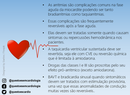 Arritmias na miocardite: o que fazer?