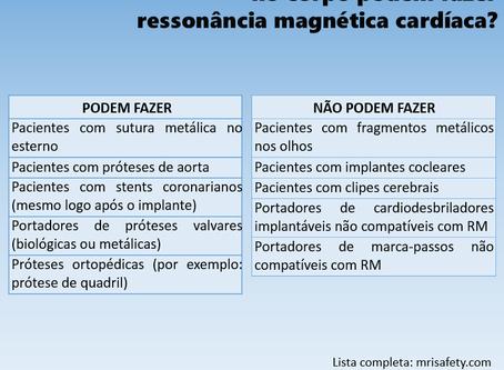 Pacientes com dispositivos metálicos podem fazer ressonância magnética cardíaca?