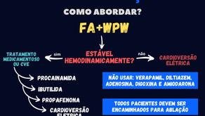 Como tratar um paciente com FA e WPW?
