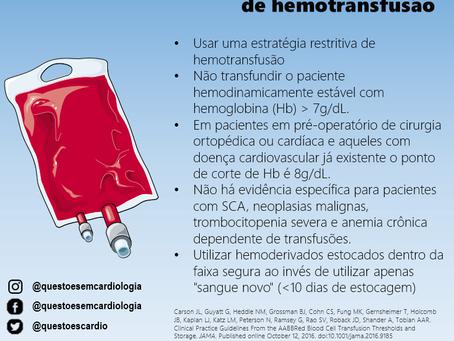 Novas recomendações de hemotransfusão
